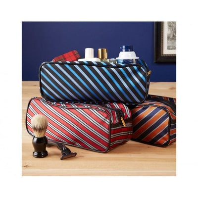 Harvard Tie Toiletry Bag - Orange Give Simple