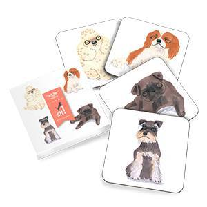 Pooches Coasters (Set of 4) Magpie
