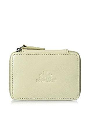 Earrings and Rings Leather Jewelry Case - White Give Simple
