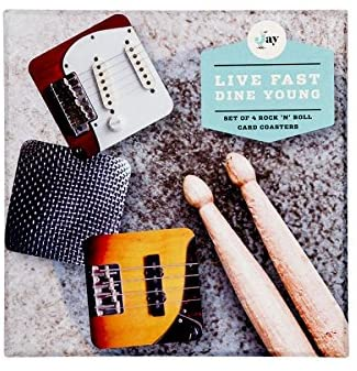 Rock and Roll Coaster Set (Set of 4) Give Simple