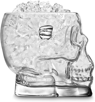 Glass Skull Container psi