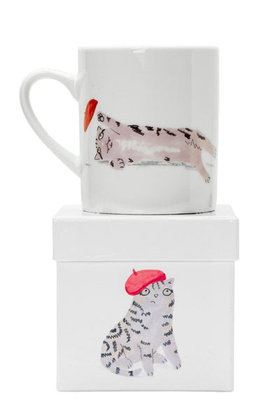 Tabby Cat in a Beret Mug Magpie