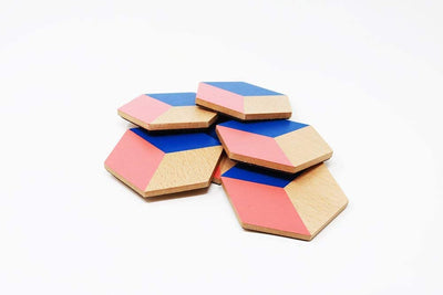Table Tile Coasters - Red and Blue Give Simple