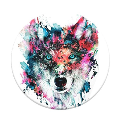 Artsy Wolf Popsocket Phone Grip and Stand