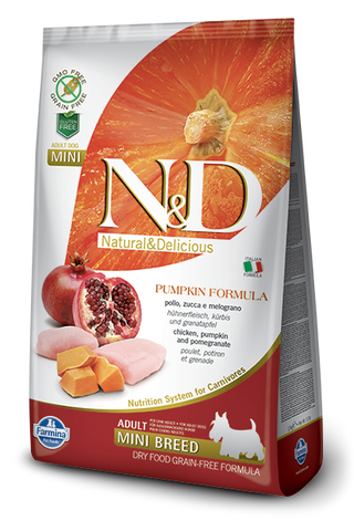 N&D Pumpkin Grain-Free Chicken & Pomegranate Adult Dog Mini Breed