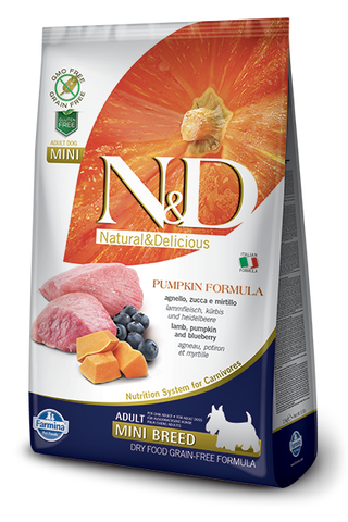 N&D Pumpkin Grain-Free Lamb & Blueberry Adult Dog Mini Breed