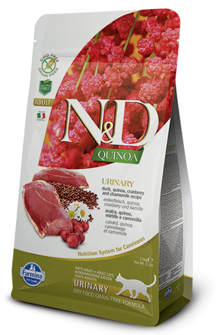 Natural & Delicious Duck, Quinoa, Cranberry & Chamomille Adult Cat Food for Urinary