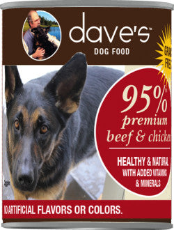 Dave's 95% Premium Meats Beef & Chicken Recipe Canned Dog Food