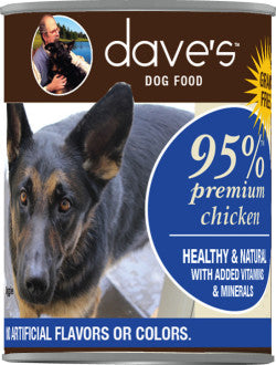 Dave's 95% Premium Meats Chicken Recipe Canned Dog Food
