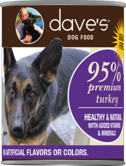 Dave's 95% Premium Meats Turkey Recipe Canned Dog Food