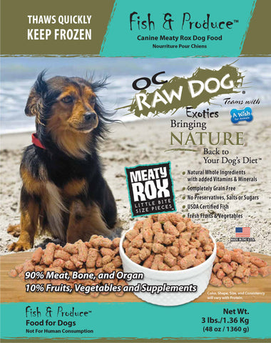OC Raw Dog Fish & Produce Dog Food