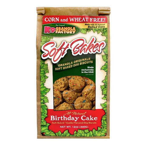 K9 Granola Factory Soft Bakes Birthday Cake Dog Biscuits