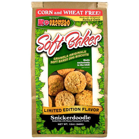 K9 Granola Factory Soft Bakes Limited Edition Snickerdoodle Dog Biscuits