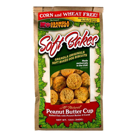 K9 Granola Factory Soft Bakes Peanut Butter Cup Dog Biscuits