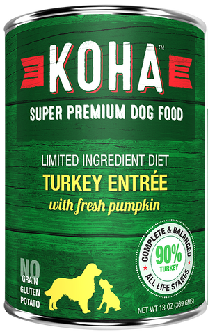 Koha Turkey Entree Dog Food