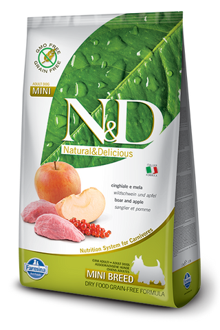 N&D Grain-Free Boar & Apple Adult Dog Mini Breed