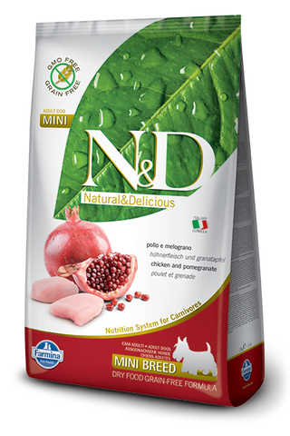 N&D Grain-Free Chicken & Pomegranate Adult Dog Mini Breed