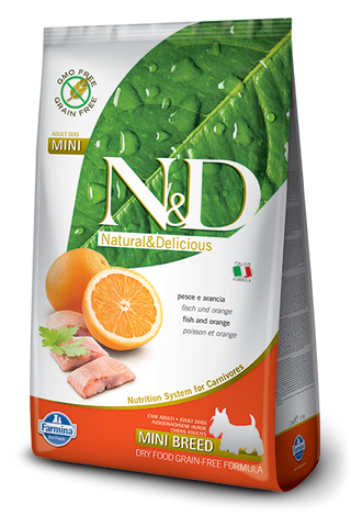 N&D Grain-Free Fish & Orange Adult Dog Mini Breed