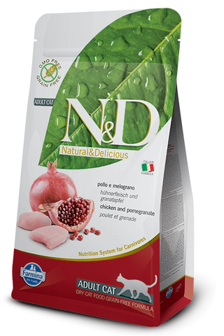 Natural & Delicious Grain-Free Chicken & Pomegranate Adult Cat Food