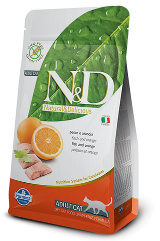 Natural & Delicious Grain-Free Fish & Orange Adult Cat Food