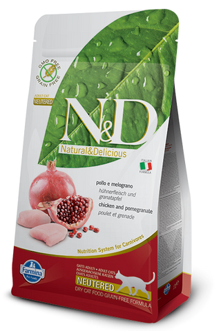 Natural & Delicious Grain-Free Chicken & Pomegranate Neutered Cat Food