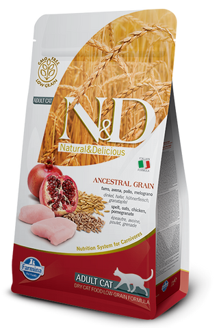 Natural & Delicious Ancestral Grain Chicken & Pomegranate Adult Cat Food