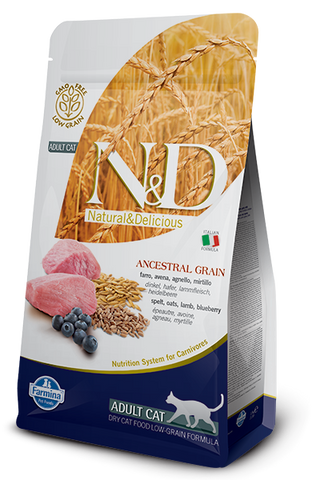 Natural & Delicious Ancestral Grain Lamb & Blueberry Adult Cat Food