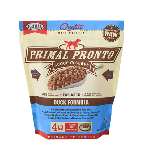 Primal Pronto Raw Frozen Canine Duck Formula