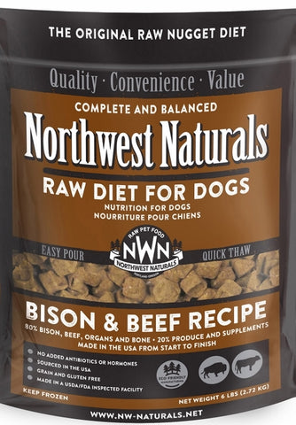 Northwest Naturals™ Bison & Beef Nuggets Raw Diet for Dogs