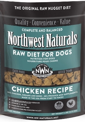 Northwest Naturals™ Chicken Nuggets Raw Diet for Dogs