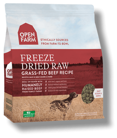 Open Farm Freeze Dried Raw Grass Fed Beef Recipe Dog Food