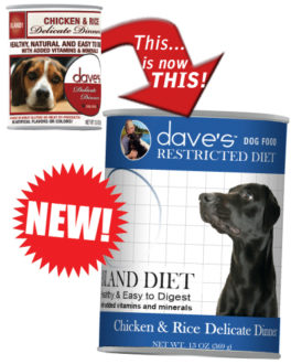 Dave's Restricted Diet Bland Chicken and Rice Formula Canned Dog Food