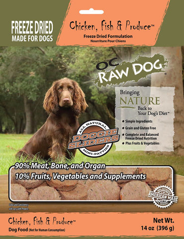 OC Raw Dog Chicken, Fish & Produce Dog Food
