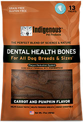 Indigenous Dental Health Bones Carrot & Pumpkin Flavor