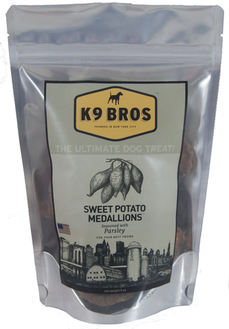 K9 Bros Sweet Potato Medallions Dog Treats