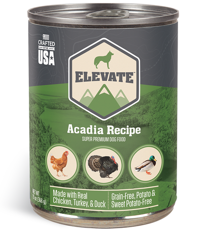 Elevate Acadia Canned Recipe Dog Food