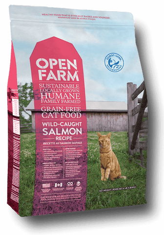 Open Farm Grain Free Wild-Caught Salmon Recipe Dry Cat Food