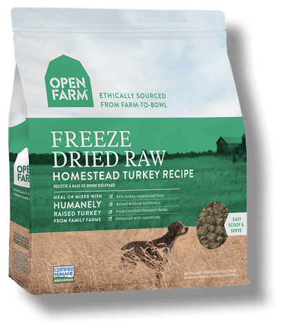 Open Farm Freeze Dried Homestead Turkey Recipe Dog Food