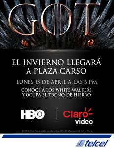 ¡Telcel y Claro video preparan una gran sorpresa para los fans de Game of Thrones!
