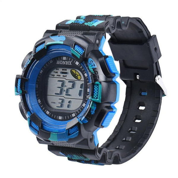 Newest Brand High Quality of Men Fashion LED Digital Alarm Date Rubber Army Watch Waterproof Sport Wristwatch - Expos Expos