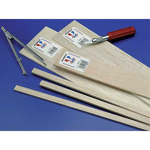 Various Balsa Wood Sheets and Strips