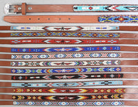 Kids leather beaded belt