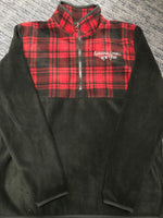 Plaid Fleece Embroidered