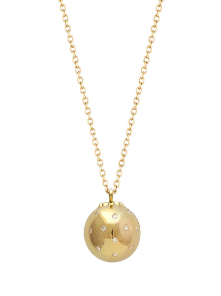 Lady Bug Diamond Sphere with Enamel