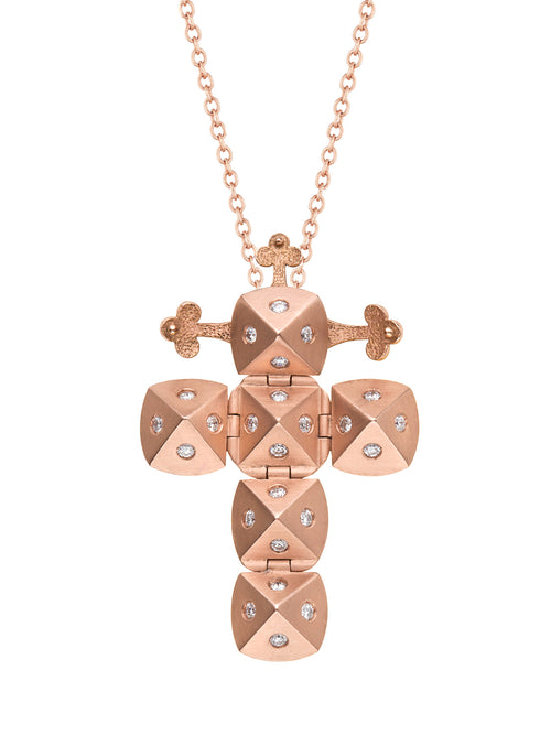 Rose Gold Cross with Diamonds