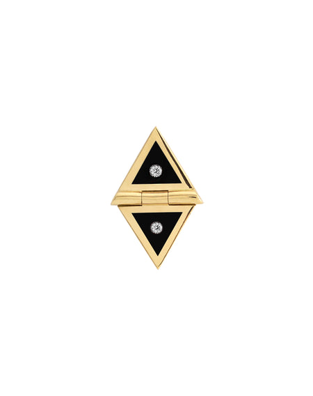 White Triangle Studs