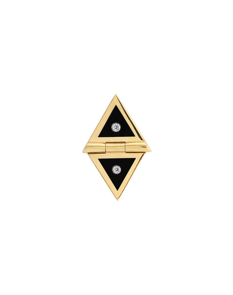 Black Triangle Studs