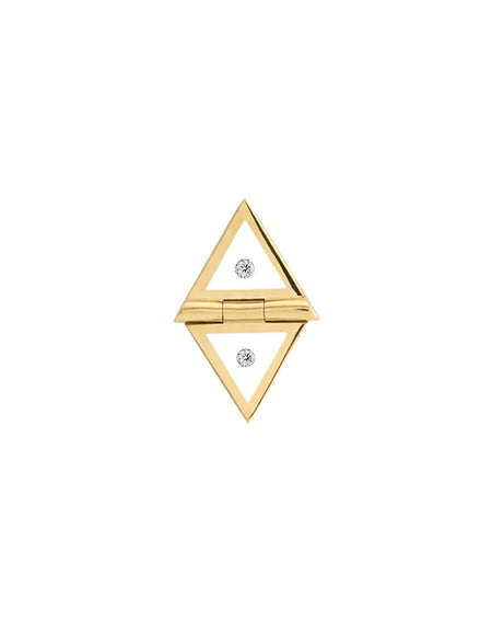Blue Triangle Studs