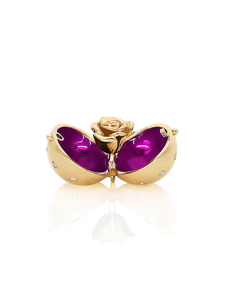 Star Diamond Sphere Purple Enamel