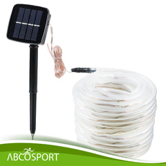 Solar led rope lights 40ft long 100 led bulbs daylight white solar led rope lights 40ft long 100 led bulbs daylight white includes mozeypictures Image collections